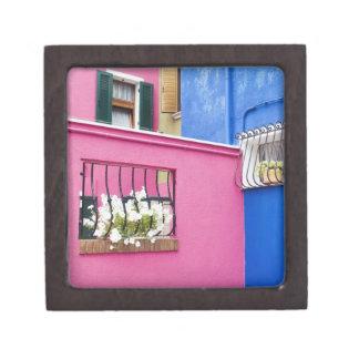 Isla de Burano, Burano, Italia. Burano colorido Cajas De Regalo De Calidad