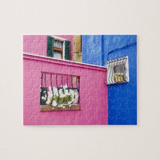 Isla de Burano, Burano, Italia. Burano colorido Puzzles
