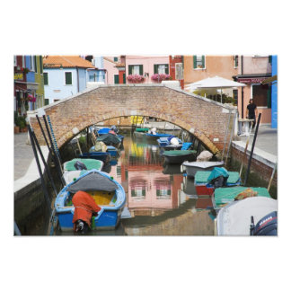 Isla de Burano, Burano, Italia. Colorido Cojinete