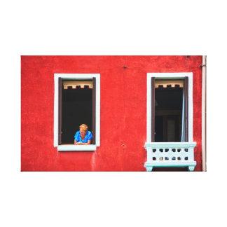 Isla de Burano, Venecia Lienzo Envuelto Para Galerias