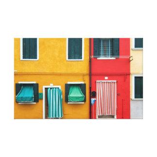 Isla de Burano, Venecia Impresion En Lona