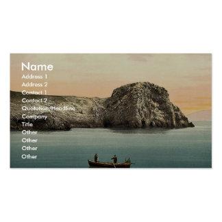 Isla de Busi, cuevas, cl de Dalmacia, Austro-Hungr Plantillas De Tarjeta De Negocio