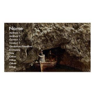 Isla de Busi, entrada a la cueva, Dalmacia, Austro Tarjetas De Visita