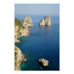 Isla de Capri en la provincia del Campania, Italia Impresiones