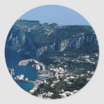 Isla de Capri, Italia Pegatina Redonda