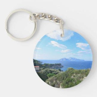 Isla de Capri Llavero Redondo Acrílico A Una Cara