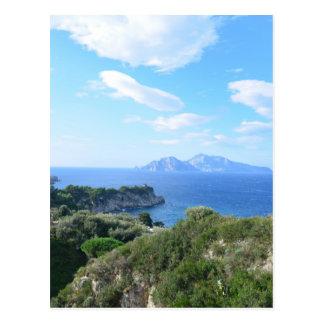 Isla de Capri Tarjeta Postal