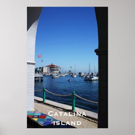 Isla de Catalina a través de la ventana Poster