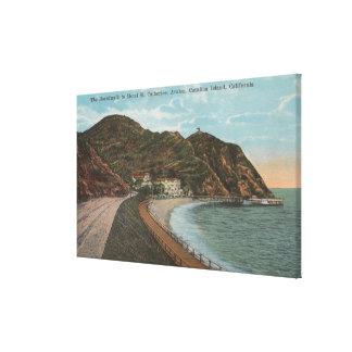 Isla de Catalina, CA - St. Catherine del hotel Impresion De Lienzo