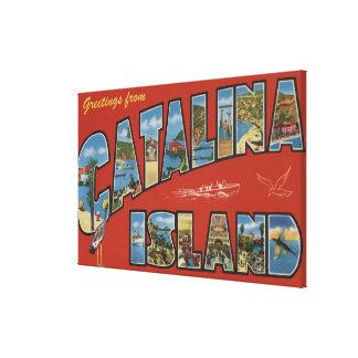 Isla de Catalina, California - escena grande de la Impresión En Lienzo Estirada
