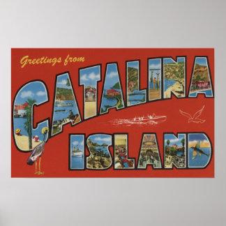 Isla de Catalina, California - escena grande de la Póster