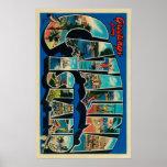Isla de Catalina, California - letra grande Poster