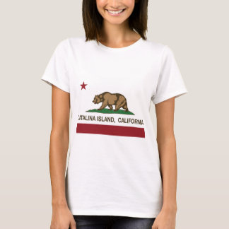 isla de Catalina de la bandera de California Playera