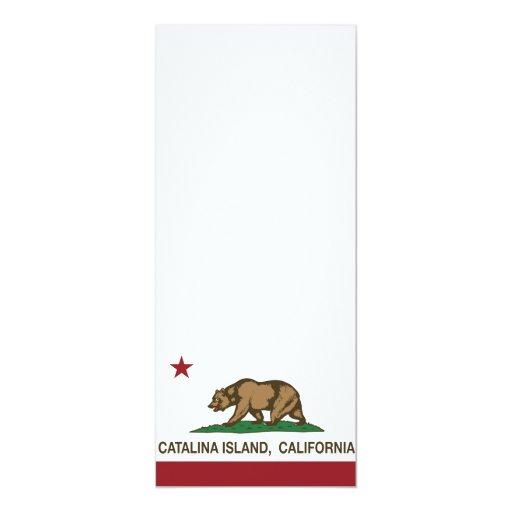 Isla de Catalina de la bandera de la república de Invitación 10,1 X 23,5 Cm