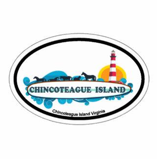 Isla de Chincoteague Imán Fotoescultura