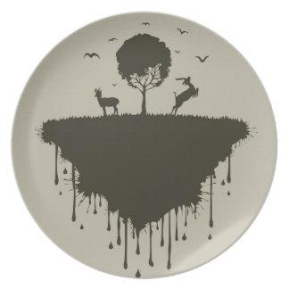 Isla de ciervos plato para fiesta