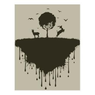 Isla de ciervos postal