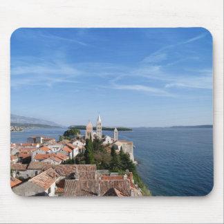 Isla de Croacia, de Rab y ciudad Alfombrillas De Ratones