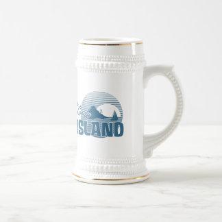 Isla de Dookie - azul Jarra De Cerveza