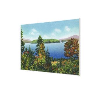 Isla de Eagle y una opinión más baja del lago Sara Lienzo Envuelto Para Galerías