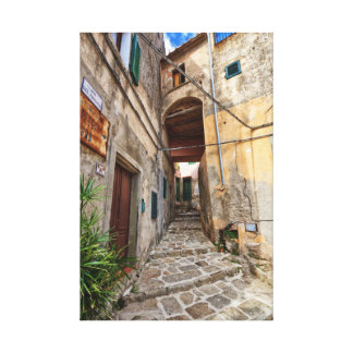 Isla de Elba - ciudad vieja en Marciana Lona Envuelta Para Galerías