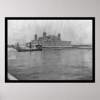 Isla de Ellis, NY 1913 Póster