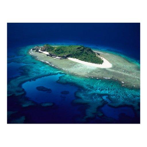 Isla de Eori, islas de Mamanuca, Fiji - antena Postal