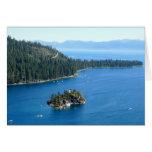 Isla de Fannette, el lago Tahoe Felicitación