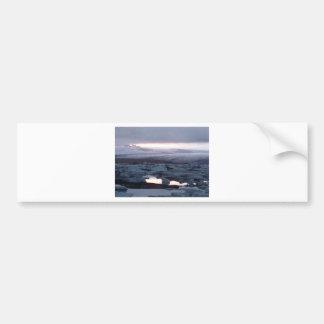 Isla de Gletscherlagune Etiqueta De Parachoque