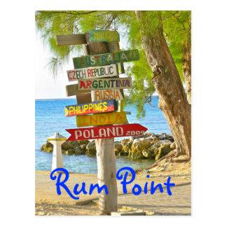 Isla de Gran Caimán punto del ron postal