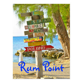 Isla de Gran Caimán, punto del ron, postal