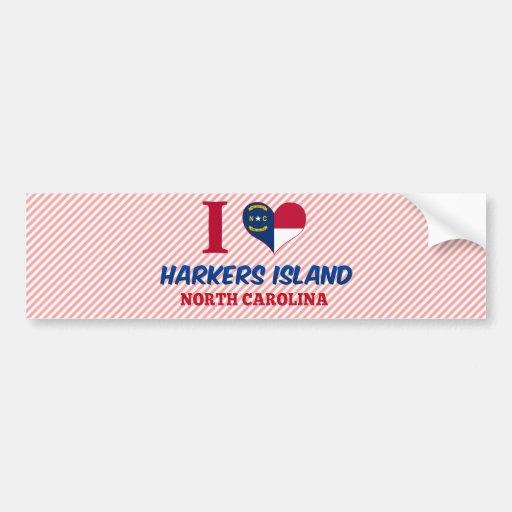 Isla de Harkers, Carolina del Norte Pegatina De Parachoque