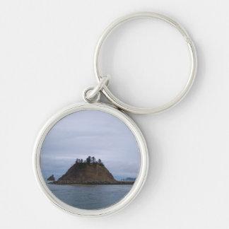 Isla de James Llavero Redondo Plateado