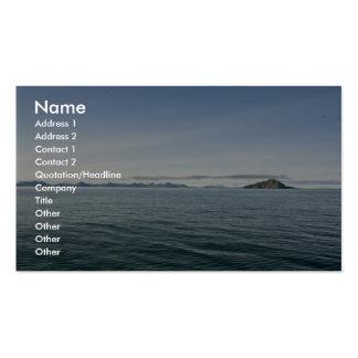 Isla de Kasatochi, islas Aleutian Plantilla De Tarjeta Personal