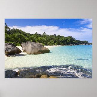Isla de Ko Miang, islas de Simil en el mar de Anda Póster