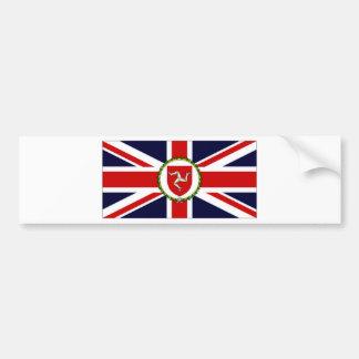 Isla de la bandera del asistente del gobernador de pegatina de parachoque