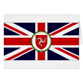 Isla de la bandera del asistente del gobernador de tarjetas