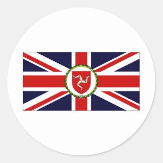 Isla de la bandera del asistente del gobernador etiqueta redonda