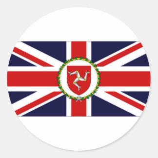 Isla de la bandera del asistente del gobernador pegatina redonda