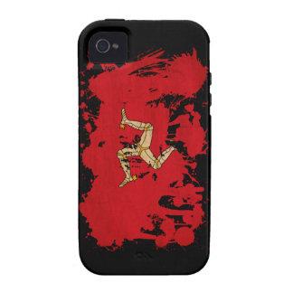 Isla de la bandera del hombre iPhone 4/4S carcasa