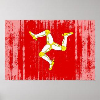 Isla de la bandera del hombre póster