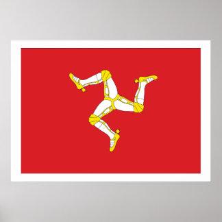 Isla de la bandera del hombre poster