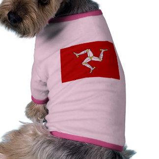 Isla de la bandera del hombre camiseta de perro