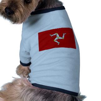 Isla de la bandera del hombre ropa de perro