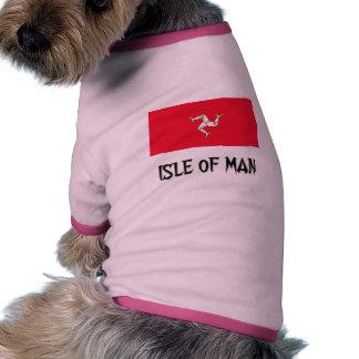Isla de la bandera del hombre camisetas mascota