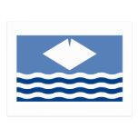Isla de la bandera del Wight Tarjeta Postal