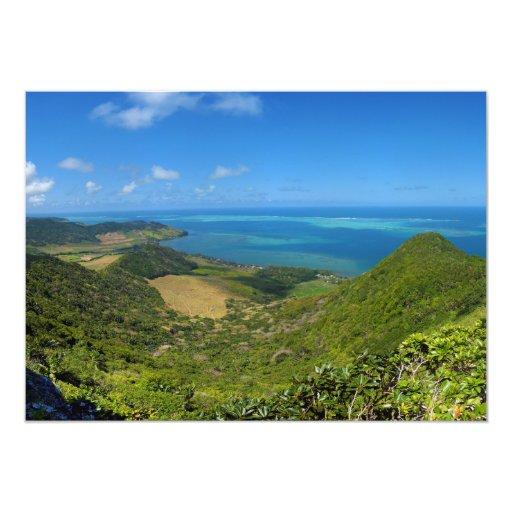 Isla de la costa este de Mauricio África Invitaciones Personalizada