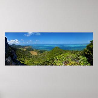 Isla de la costa este de Mauricio África Poster