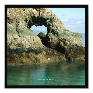 """Isla de la gaviota, Alaska Invitación 5.25"""" X 5.25"""""""