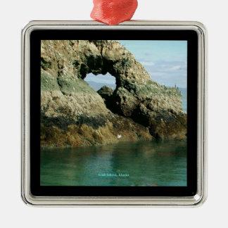 Isla de la gaviota Alaska Ornamentos De Navidad